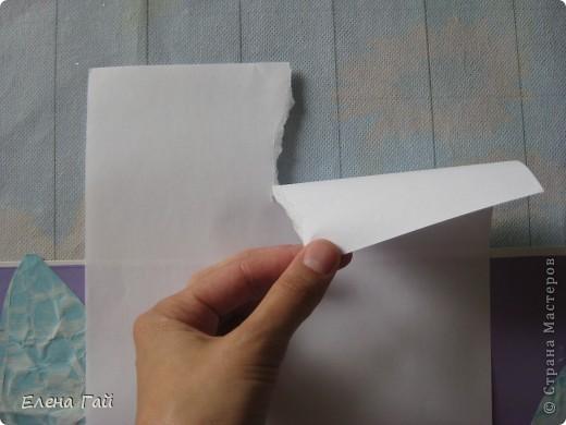 Идея не моя, но решила показать  поэтапность выполнения такой работы, вдруг кому пригодится)) Нам нужен: Картон (для основы), цв. бумага, клей, ножницы, краска, губка (например, для мытья посуды) фото 8