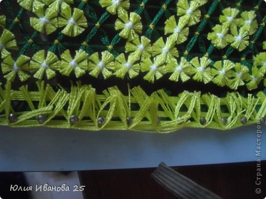 Мастер-класс Плетение Плетеная салфетка на деревянной рамке Нитки фото 26