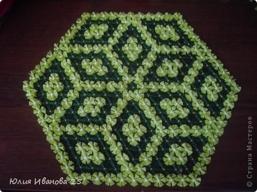 Мастер-класс Плетение Плетеная салфетка на деревянной рамке Нитки фото 27