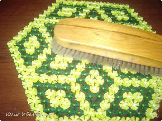 Мастер-класс Плетение Плетеная салфетка на деревянной рамке Нитки фото 28