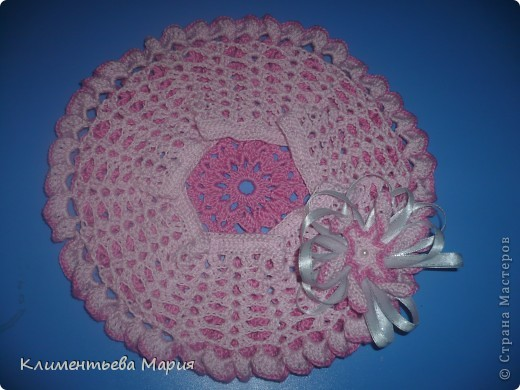 Беретик с цветком канзаши фото 10