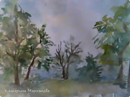 У нас в Альметьевске дождь все льет и льет. Вот и решила нарисовать этюд с грозовыми облаками. фото 2