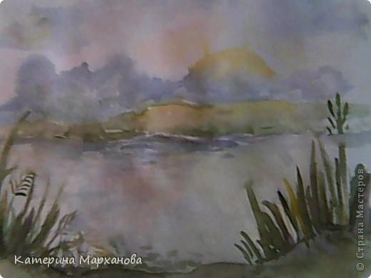 У нас в Альметьевске дождь все льет и льет. Вот и решила нарисовать этюд с грозовыми облаками. фото 3