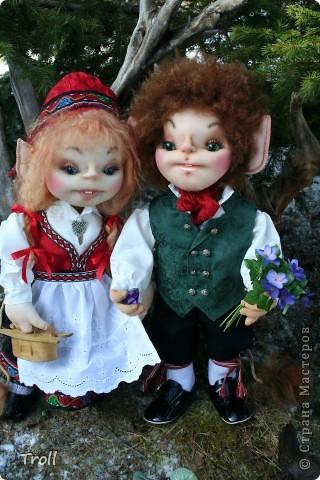 Чулочные куклы-тролли фото 6