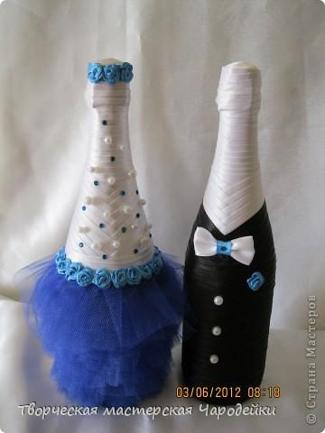 Доброго времени суток, дорогие мастерицы!!! Вот и мой обещанный МК по свадебным бутылочкам... фото 16