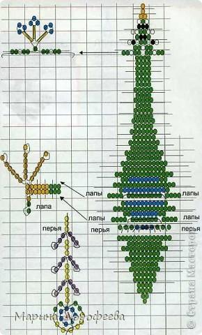 """Схема из книги  """"Фигурки из бисера """", автор-сост.  Н.В.Белов."""