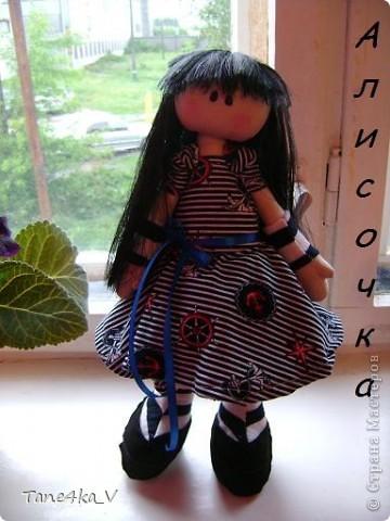 Первая моя сНежная куколка! Зовут Алиса! Одежду выбрала в морском стиле :) фото 1
