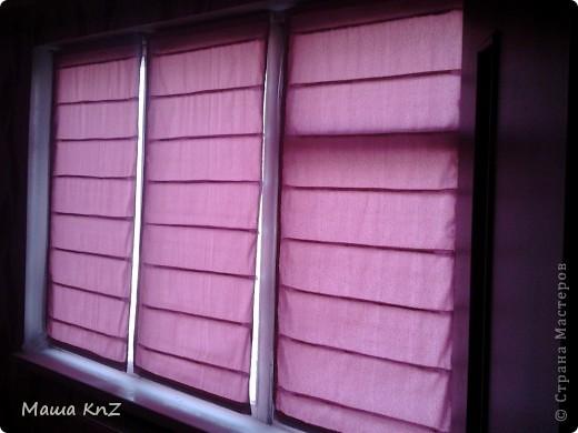 Мои римские шторы в спальне фото 1