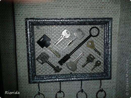 """Так мне понравились идеи, МК и советы Ольги Брусничкиной по изготовлению ключниц...  что у меня теперь вот тоже есть """"единое место для хранения и быстрого поиска ключей""""))) фото 1"""