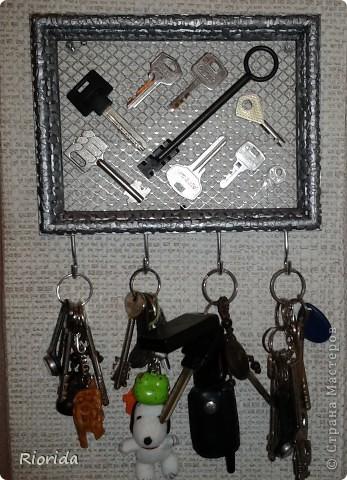 """Так мне понравились идеи, МК и советы Ольги Брусничкиной по изготовлению ключниц...  что у меня теперь вот тоже есть """"единое место для хранения и быстрого поиска ключей""""))) фото 3"""