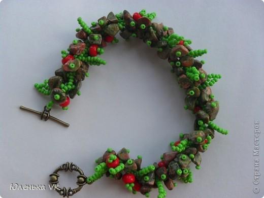 Для создания этого украшения был использован чешский бисер, чешские бусины и сколы лазурита. фото 7