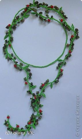Для создания этого украшения был использован чешский бисер, чешские бусины и сколы лазурита. фото 4