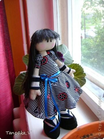 Первая моя сНежная куколка! Зовут Алиса! Одежду выбрала в морском стиле :) фото 4
