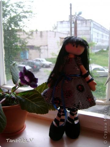 Первая моя сНежная куколка! Зовут Алиса! Одежду выбрала в морском стиле :) фото 2