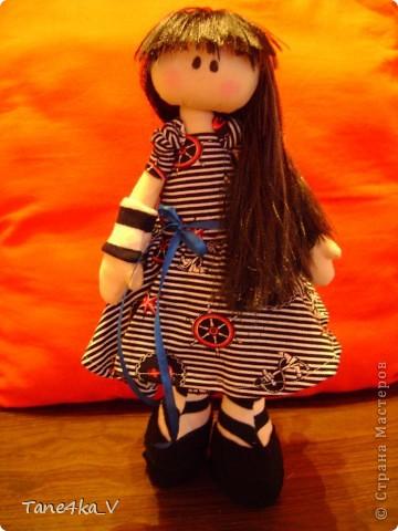 Первая моя сНежная куколка! Зовут Алиса! Одежду выбрала в морском стиле :) фото 6