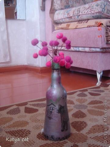 Роспись по бутылке и валяние)))