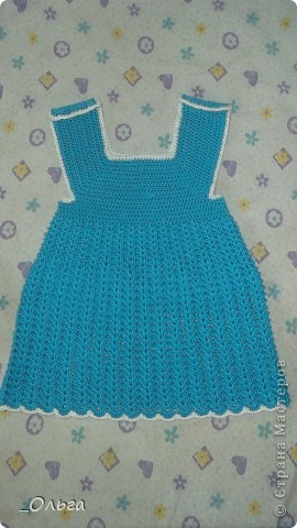 Связала вот такое платье на малышку 0-3 месяца. Хотелось услышать критику))) фото 1