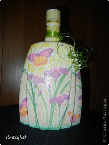 Сделала в подарок сестре (просто понравилась салфетка с бабочками и цветами)... фото 2