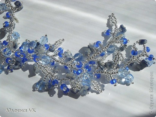 Для создания этого украшения был использован чешский бисер, чешские бусины и сколы лазурита. фото 2