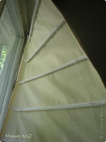 Мои римские шторы в спальне фото 3