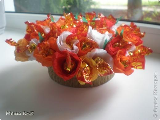 Мой маленький Первый эксперимент с букетом из конфет фото 2