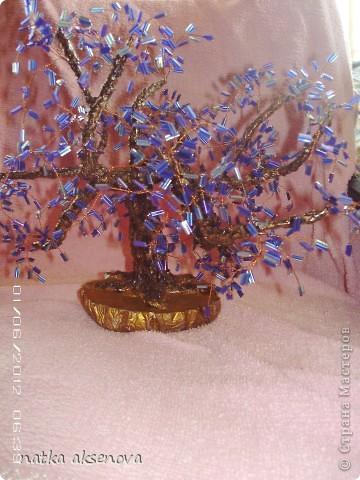 вот сплела еще одно деревце, никак оно не хотело фотографироваться - все фото какие-то смазанные, ну вот несколько из них..... фото 3
