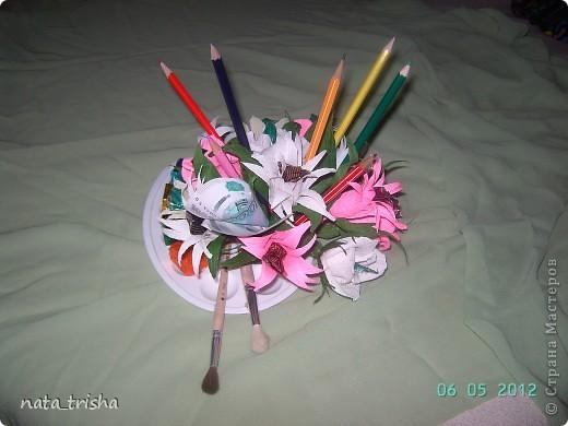 Букет из конфет (подарок художнику) фото 2