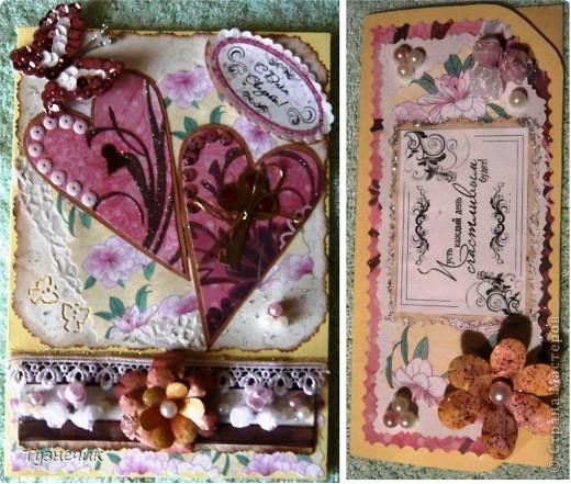 Вот еще сделала денежный конвертик, в пару к свадебной открытке...уже вручила заказчику...)))) фото 4