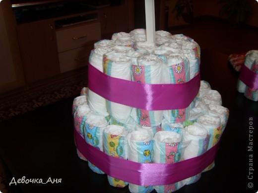 Это первый мой тортик из памперсов. фото 17