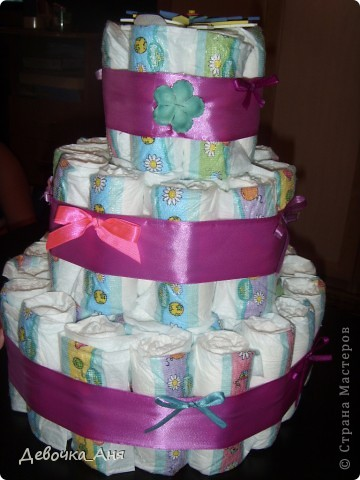 Это первый мой тортик из памперсов. фото 1