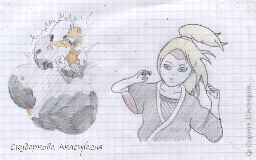 Все это я рисовала когда мне было 10 лет, так что не ругайте строго:) По большей части аниме)) фото 17