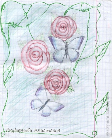 Все это я рисовала когда мне было 10 лет, так что не ругайте строго:) По большей части аниме)) фото 1