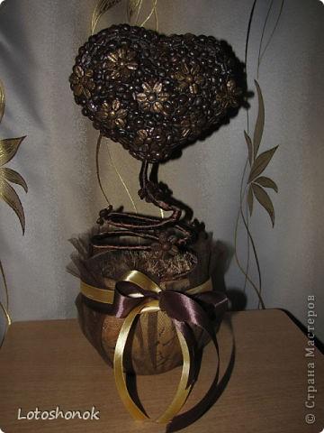 Вот такое деревце (подарок на свадьбу подруги) у меня вышло:))) Мое первое дерево, выстраданное:)) фото 1