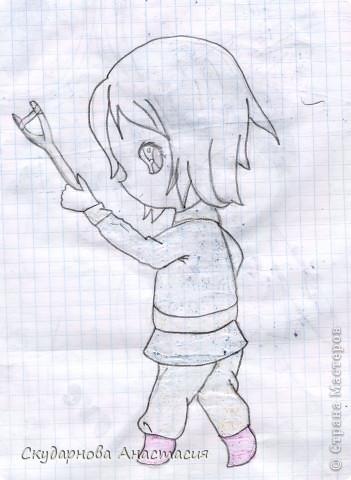 Все это я рисовала когда мне было 10 лет, так что не ругайте строго:) По большей части аниме)) фото 5