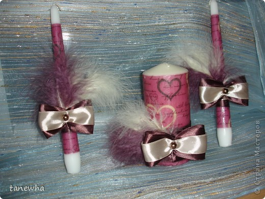 Свечи на свадебный очаг
