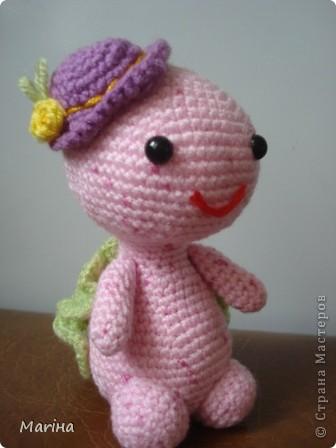 крючком Розовая черепашка