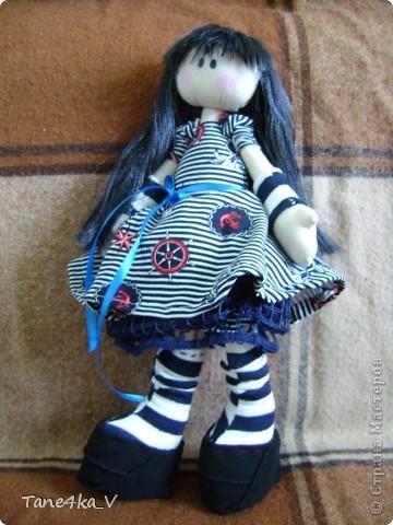 Первая моя сНежная куколка! Зовут Алиса! Одежду выбрала в морском стиле :) фото 7