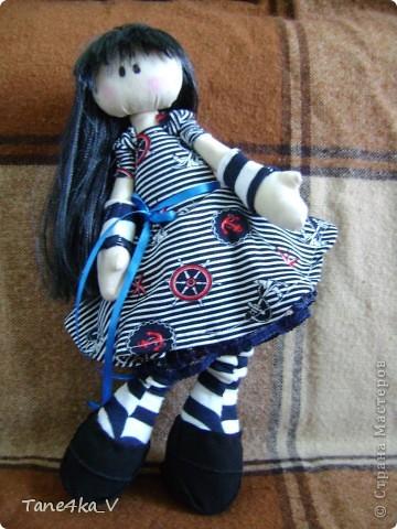 Первая моя сНежная куколка! Зовут Алиса! Одежду выбрала в морском стиле :) фото 9