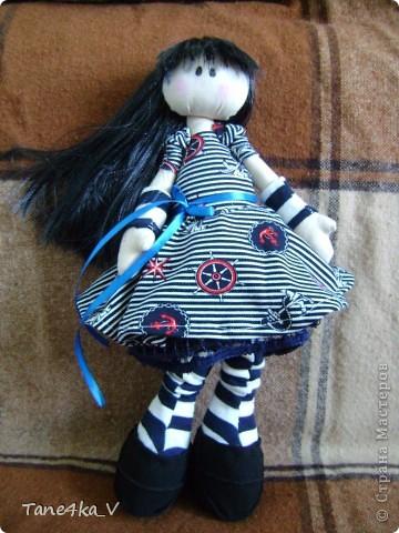 Первая моя сНежная куколка! Зовут Алиса! Одежду выбрала в морском стиле :) фото 10