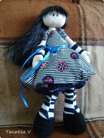 Первая моя сНежная куколка! Зовут Алиса! Одежду выбрала в морском стиле :) фото 11