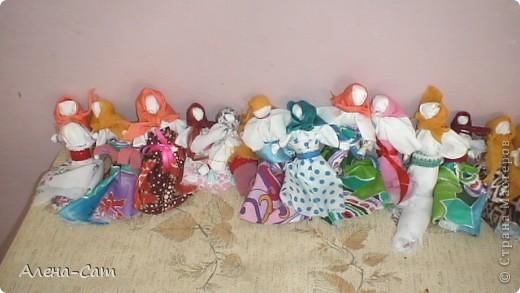 Тряпичные куклы-закрутки