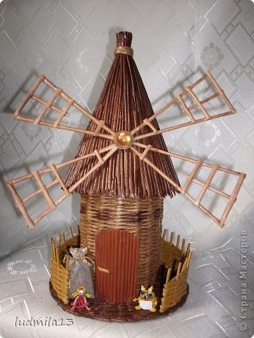 Всем здравствуйте! Вот и у меня появилась мельница! Спасибо Лилечке за МК http://stranamasterov.ru/node/349187?c=favusers  фото 1