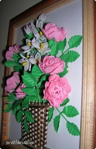 Квиллинг панно из цветов