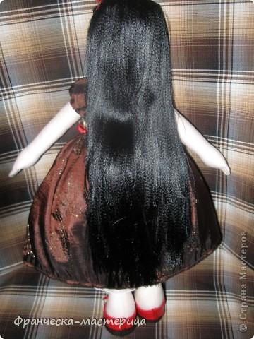 Куколка сшилась после клича, брошенного Ольгой Запоновой по СП кукол - большеножек. Рост куколки - 32 см. Ткань - лён , кружева, атласные ленты. фото 3