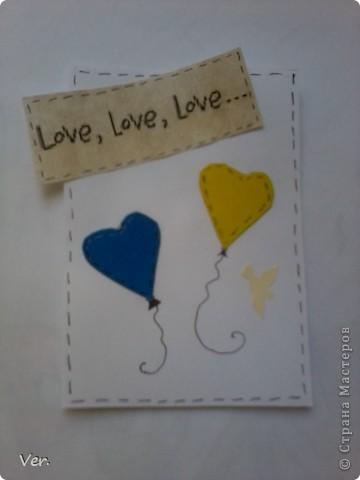"""Всем привет!:) Выставляю серию """"Шары любви"""".На каждой карточке шар любви и пожелание. фото 6"""