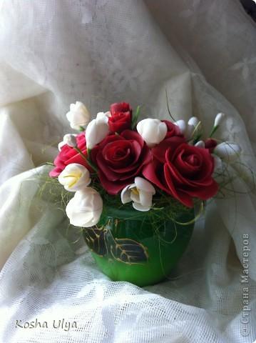 Вот решила создать букетик в подарок своему куратору из универа. А вдохновила меня на это Екатерина Звержанская http://www.fito-art.ru/ учусь на ее работах))))))))) Что получилось оценивать вам! фото 1