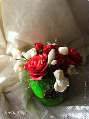 Вот решила создать букетик в подарок своему куратору из универа. А вдохновила меня на это Екатерина Звержанская http://www.fito-art.ru/ учусь на ее работах))))))))) Что получилось оценивать вам! фото 2