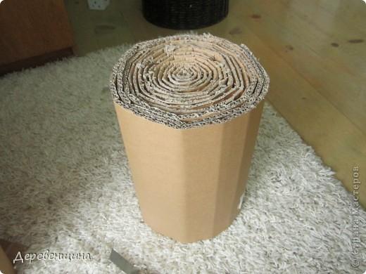 Мастер-класс Плетение ленивый табурет и грибная поляна  Трубочки бумажные фото 4