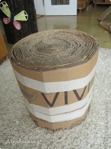 Мастер-класс Плетение ленивый табурет и грибная поляна  Трубочки бумажные фото 5