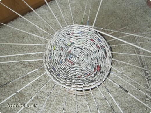 Мастер-класс Плетение ленивый табурет и грибная поляна  Трубочки бумажные фото 6